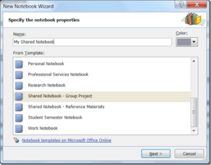 How to: Synchronize OneNote 2007 with your SharePoint MySite